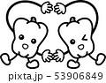 ピーマン 野菜 キャラクター 白黒線画ぬり絵 53906849