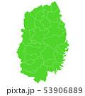 岩手県地図 53906889