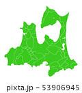 青森県地図 53906945