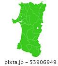 秋田県地図 53906949