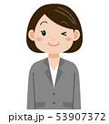 女性 スーツ ビジネスウーマンのイラスト 53907372