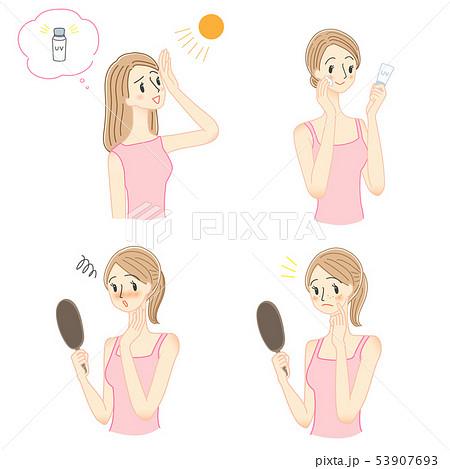 女性 日焼け 紫外線対策 セット 53907693