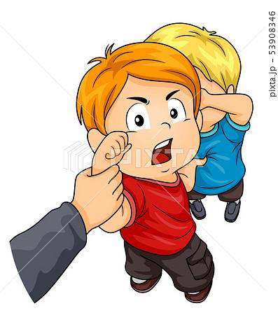 Kids Boys Hand Stop Bully Illustration 53908346