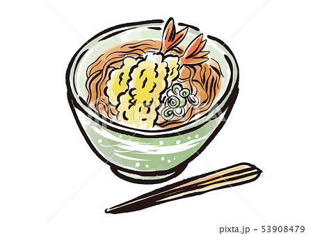 墨絵 天ぷら蕎麦 53908479