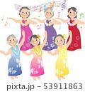 シニアのフラダンス 53911863