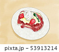 苺のフレンチトースト 水彩 53913214