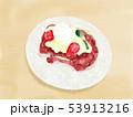 苺のフレンチトースト 線なし水彩 53913216