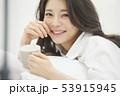 女性 アジア人 ティータイムの写真 53915945