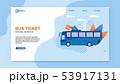 Bus Ticket Online Service Web Design Flat Cartoon. 53917131