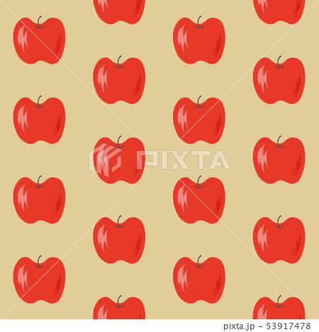 りんごの総柄 53917478