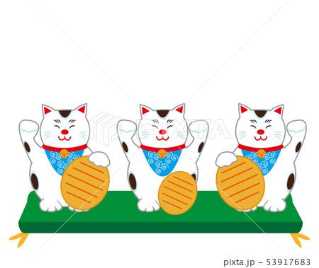 猫 招き猫 座布団 小判 53917683