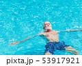 Healthy elder enjoy relax swimming in the pool 53917921