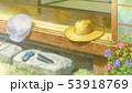 夏 縁側 麦わら帽子のイラスト 53918769