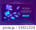 3d isometric ultraviolet web page template 53921528
