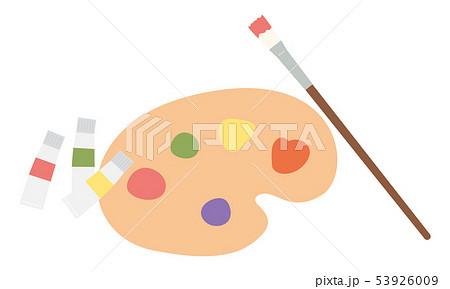 素材-パレットと絵の具 53926009