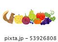 果物 フルーツ リスのイラスト 53926808