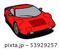 イタリアンヒストリッククーペ 赤色 自動車イラスト 53929257