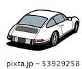 ジャーマンヒストリックスポーツ リアビュー 白色 自動車イラスト 53929258