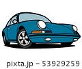 ジャーマンヒストリックスポーツ 青色 自動車イラスト 53929259