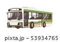 バス 路線バス 乗り物のイラスト 53934765