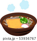 蕎麦 きつね蕎麦 食べ物のイラスト 53936767