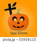 Happy Halloween typographic text and orange 53939115