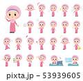 ヒジャブ 女の子 ムスリムのイラスト 53939605