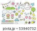 幼稚園かわいい線画カラフル 53940732