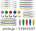 バリエーション セット ラインのイラスト 53943597