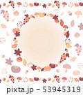 秋の手描きフレーム 53945319