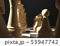 chess board game concept of business ideas and competition, strategy ideas concept white figures on 53947742