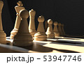 chess board game concept of business ideas and competition, strategy ideas concept white figures on 53947746