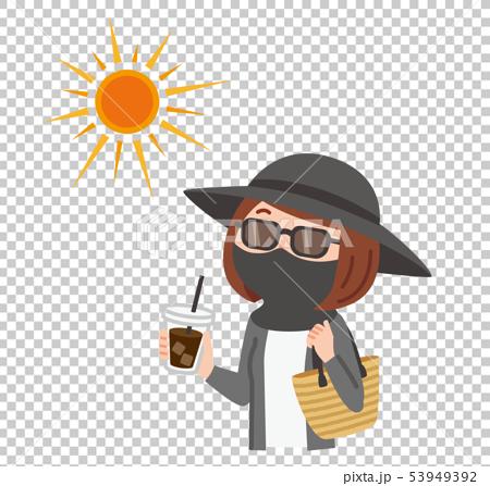 日焼け対策する女性 53949392
