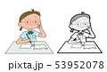 塾で勉強をする女の子 53952078