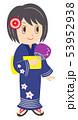 女性 浴衣 夏のイラスト 53952938