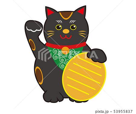 猫 招き猫 小判 黒猫  53955837