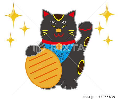 猫 招き猫 小判 黒猫  53955839