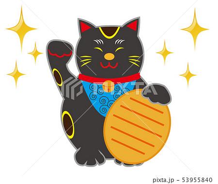 猫 招き猫 小判 黒猫  53955840