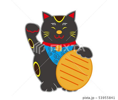 猫 招き猫 小判 黒猫  53955841