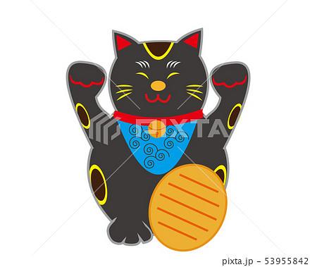 猫 招き猫 小判 黒猫  53955842