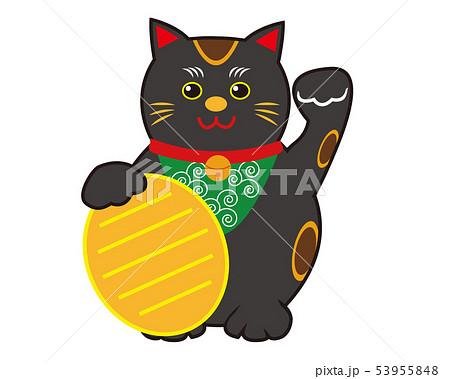 猫 招き猫 小判 黒猫  53955848