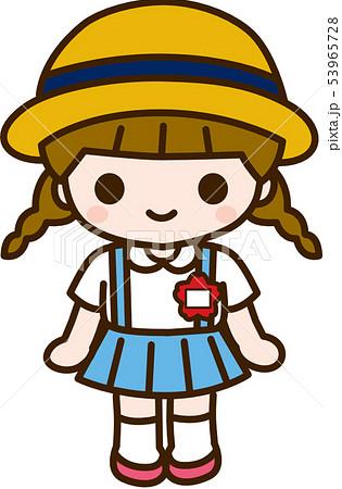 幼稚園児 女の子のイラスト素材