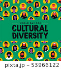 Cultural Diversity card of diverse ethnic people 53966122