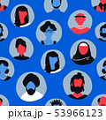 Blue people face icon seamless pattern background 53966123