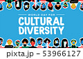 Cultural Diversity card of country flag people 53966127