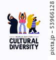 Cultural Diversity diverse friend group card 53966128