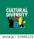 Cultural Diversity card of diverse friend group 53966129