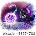 落雷と特大呪文を使う黒騎士 53974788