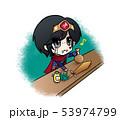 アイテム屋さんで冒険に必要な道具を買い揃える勇者 53974799