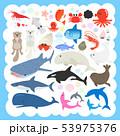 海の生物のイラストセット 53975376